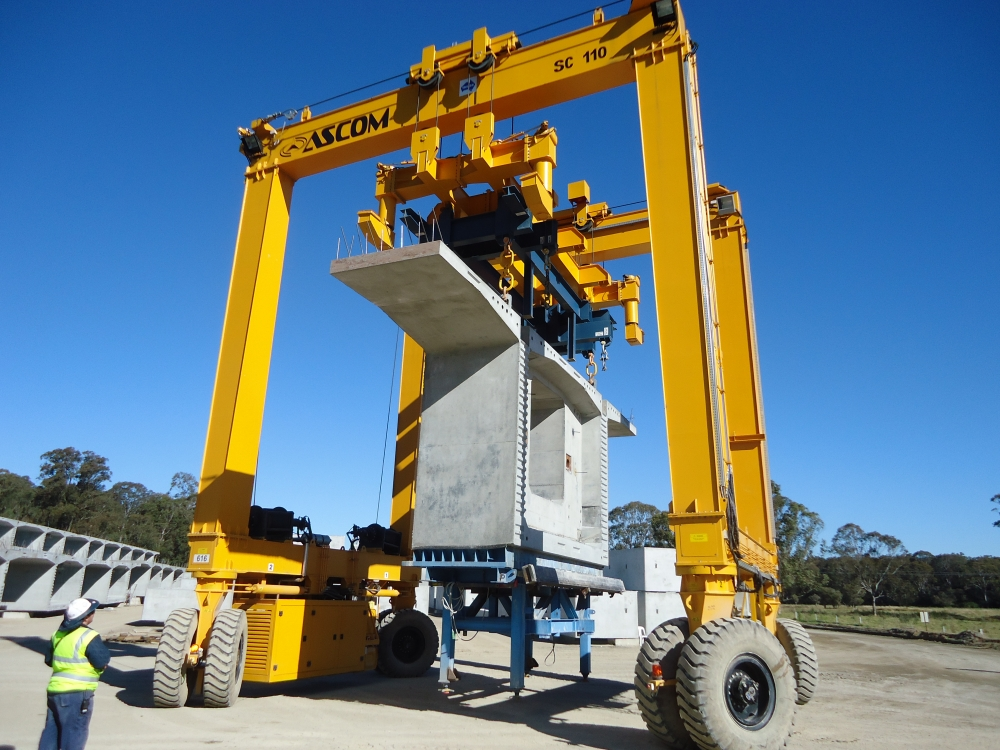 Rubber Tyred Gantry Cranes Translate : Ascom handling equipment specialist